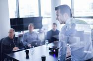 Stock Photo of Business presentation on corporate meeting.