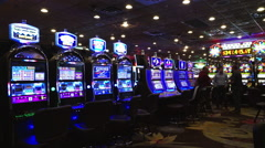Slot machines in Las Vegas Downtown - stock footage