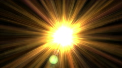 4k shine golden sunlight with ray laser fiber line,science future lights energy Stock Footage