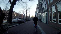 Amsterdam - Bike Ride POV C2 58s Stock Footage