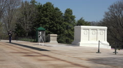 Arlington National Cemetery Tomb Unknown Soldier Honor Guard slow 4K 016 Stock Footage