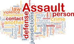 Stock Illustration of Assault background concept wordcloud