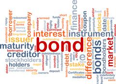 Bond wordcloud concept illustration - stock illustration
