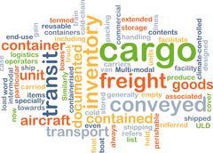 cargo wordcloud concept illustration - stock illustration