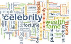 Celebrity wordcloud concept illustration Stock Illustration