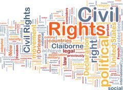 Civil rights wordcloud concept illustration Stock Illustration
