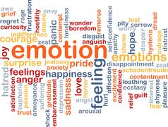 Emotion wordcloud concept illustration Stock Illustration