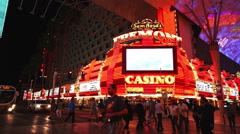 The Freemont casino in Las Vegas - stock footage