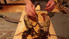 Chef Preparing to Cook Lobster Stock Video Stock Footage