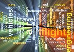 Flight background concept glowing - stock illustration