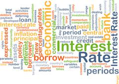 Interest rate background concept Stock Illustration