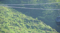 Cableway on Mount Tianzhu, Anhui, China. Stock Footage