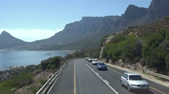 Driving to Camps Bay (Cape Town, South Africa) Stock Footage