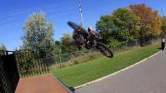 BMX Crash -Flair -Extreme Sports Stock Footage
