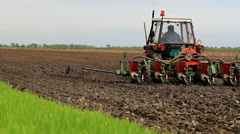 Agricultural machinery in operation - stock footage