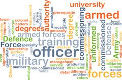Officer wordcloud concept illustration Stock Illustration