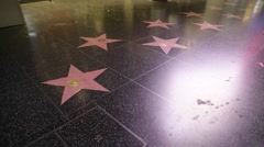 Stock Video Footage of Night View of Hollywood Walk of Fame in Los Angeles Stock Video