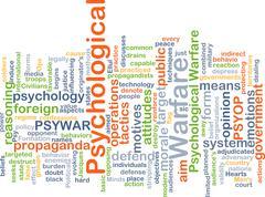 Psychological warfare background concept Stock Illustration