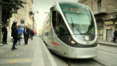 Tram of Jerusalem 6 - stock footage