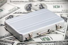 small aluminum case for the dollar - stock photo