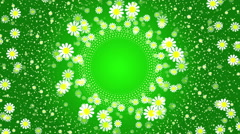green abstract loop motion background, flower - stock footage