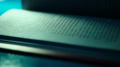 Pages of the book - stock footage