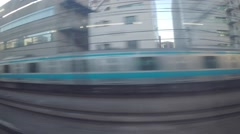 Japanese train speeds by Stock Footage