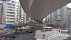 Busy tokyo intersection - stock footage