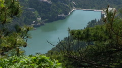 Alchemy Lake in the Mount Tianzhu, Anhui, China. - stock footage