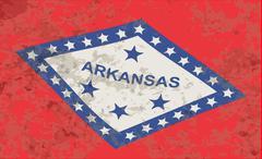 Arkansas State Flag Grunge - stock illustration