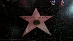 Stock Video Footage of Michael Jackson Hollywood Walk of Fame Stock Video