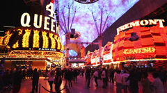 Party atmosphere at Freemont street Las Vegas Stock Footage