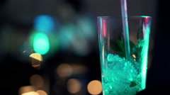 Cocktail in bar at night HD Stock Footage