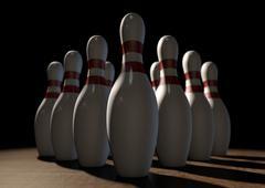 Stock Illustration of Ten Pin Bowling Pins