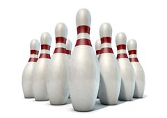 Ten Pin Bowling Pins - stock illustration