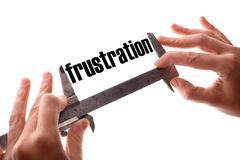 Small frustration - stock illustration