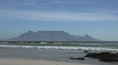 Cape Town (view from Bloubergstrand, South Africa) Stock Footage