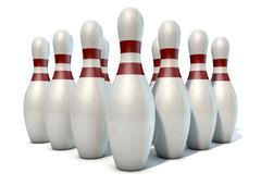 Ten Pin Bowling Pins Stock Illustration