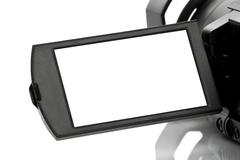 Stock Photo of Blank Display of Handycam Camcorder
