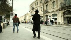 Tram's Rail in Jerusalem 2 Stock Footage