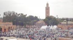 Morocco Djemaa el fnaa square 4 Stock Footage