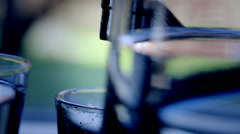 Close up on running water from a tap in kitchen Stock Footage