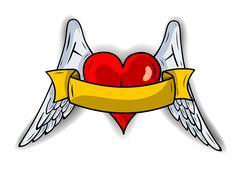 Stock Illustration of heart wings