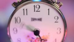 Hours with accelerated rotation of arrows Stock Footage