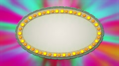 Casino mirror billboard lights background - 1080p - stock footage