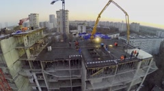 Construction site of dwelling house Falcon Fort Stock Footage