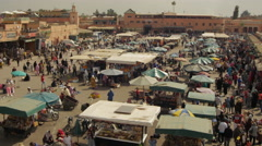 Morocco Djemaa el fna square 1 Stock Footage