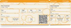 Vector image of airline boarding pass ticket Piirros