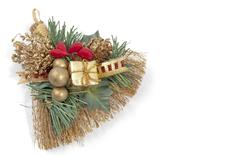 Hay broom festivity decoration - stock photo