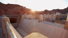 Hoover Dam spillway overview - stock footage